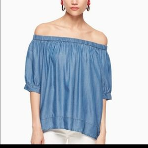 Kate Spade Broome Street chambray off the shoulder